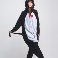 Black Cat Animal Adult Kigurumi Onesuit