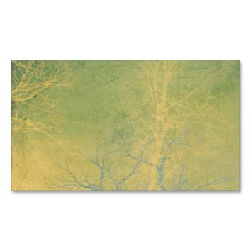 vintage style business card template nature art