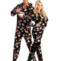 Hot Sushi Adult Footed Onesuits Pajamas