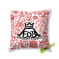 Fall Out Boy Quote Save Rock and Rool Square Pillow Cover