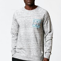 Modern Amusement Tribal Pocket Terry Crew Sweatshirt - Mens Hoodies - Gray