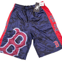 Boston Red Sox Official MLB Big Log Camo Shorts