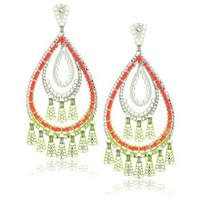 LK Designs Multi-Drop Shaped Earrings