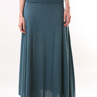 Stretch Cotton Maxi Skirt - Maxi Skirts at Pinkice.com