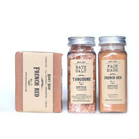 DETOX set - Face mask - bath salt - soap - French red clay
