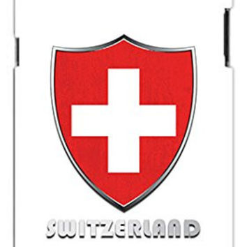 Premium SWISS Switzerland National Flag Badge Direct UV Printed Unique Quality Rubber Soft TPU Case for Samsung Galaxy S3 SIII i9300 (WHITE)