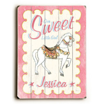 Personalized Kids Sweet Horse Wood Sign