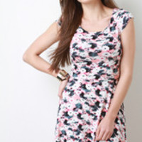 Women's Floral Blot Dress - Size S