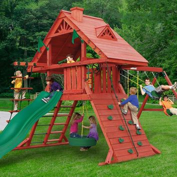 Gorilla Playsets Sun Palace I Wooden Swing Set