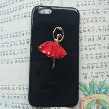 ballet girl in red, protective case for iPhone 6 iPhone 6 plus iPhone5/s, summer gift hard case,best friends gift,love gift