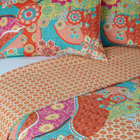 ModCloth Boho Pattern In for the Night Quilt Set in Full, Queen