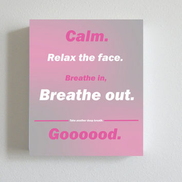 Yoga Poster, Print, Calming art, inspire, Word Art Letter Art, Pink Home Decor, Office Decor, Dorm Decor, Art Print, Handmade, Digital Print