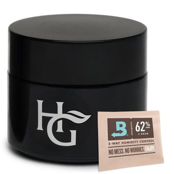 Herb Guard - Quarter Oz Airtight Container & Smell Proof Stash Jar (100ml) Ultraviolet Protection Keeps Herbs Fresh for Months 1