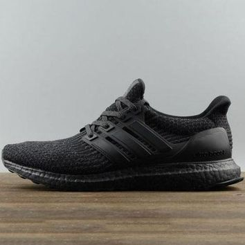 Adidas Trending Ultra Boost Ub Men Fashion Edgy Sneakers Sport Shoes Black G