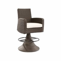 Leeward Outdoor Wicker Swivel Bar Stool