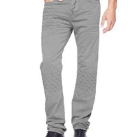 True Religion Dean Tapered Geo Patched Quilted Mens Pant - Nomad Tracks Slate Grey