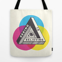 Seeing is Believing Tote Bag by Andrew Henry