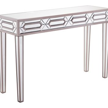 A10418 Hexa Console Table Mirror And Gray