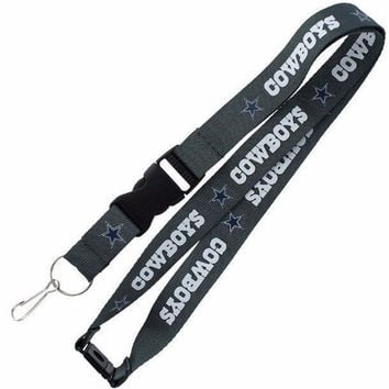 NFL Dallas Cowboys Lanyard Keychain Keyring Badge ID Holder Licensed Breakaway