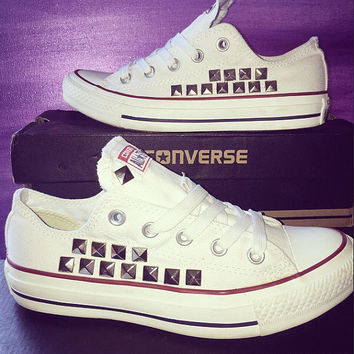Custom Converse Studded All Star Shoes - Chuck Taylors - ALL SIZES & COLORS available!