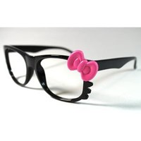Ribbon Hello Kitty Fashion Glasses (Pink)