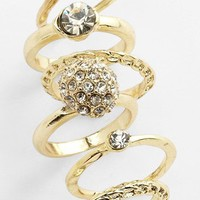 Carole Stackable Rings (Set of 6) | Nordstrom