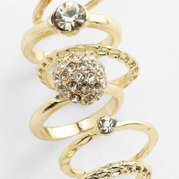 Carole Stackable Rings (Set of 6)   Nordstrom