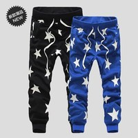 2016 New Men Printed Drop Crotch Harem Skinny Sweatpants Baggy Pants Mens Casual Hip Hop Joggers Silm Bandana Trousers