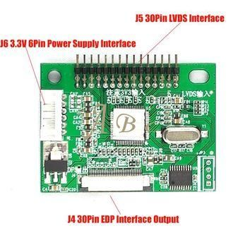 3.3V 30 Pin LVDS Turn To EDP Signal LCD Converter Conversion Controller Board for 1920