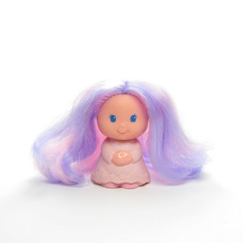 Pearlypeek Doll Lady Lovely Locks Vintage Hide N Peek Toy with Pink & Purple Hair