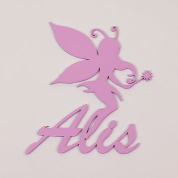 WoodWordsPark Label Wooden Letters For Wall -Unique Gift - wood color signs Baby name Alis,