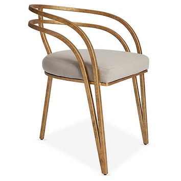 Rhodes Side Chair, Greige Crypton - One Kings Lane - Brands | One Kings Lane