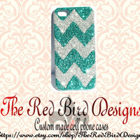 Glitter Sparkly Chevron iPhone 4/4G OR iPhone 5 Cell Phone Case