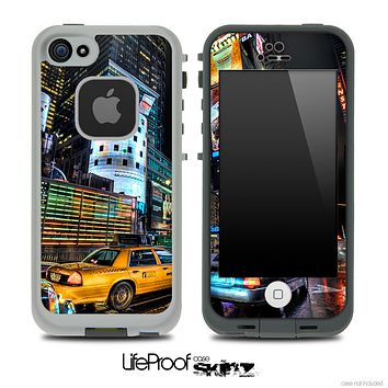Cartoon Times Square Skin for the iPhone 5 or 4/4s LifeProof Case