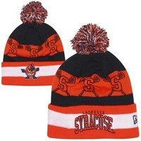 New Era Syracuse Orange The Jake Lacrosse Knit Hat - Orange/Navy Blue