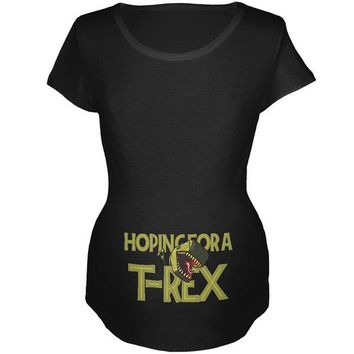 DCCKJY1 We're Hoping for a T-Rex Funny Cute Maternity Soft T Shirt
