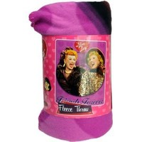 I Love Lucy with Ethel fleece blanket throw