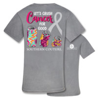 Southern Couture Crush Cancer Comfort Colors T-Shirt