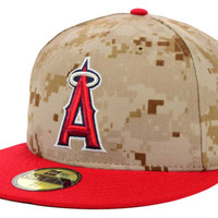 Los Angeles Angels of Anaheim MLB 2014 Memorial Day Stars and Stripes 59FIFTY Cap