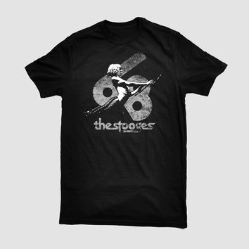 Iggy Pop/The Stooges (White on Black) T-Shirt