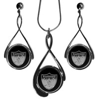 NFL - Oakland Raiders Tear Drop Jewelry Set