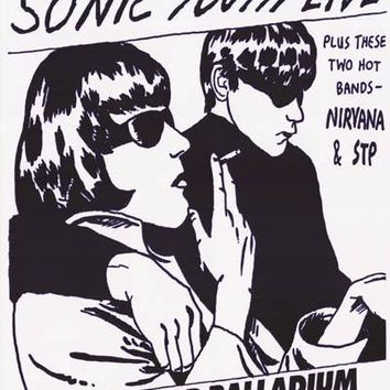 Sonic Youth Nirvana Hollywood Palladium Poster 24x33