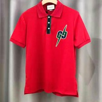 GUCCI Fashion Men Women Casual Short Sleeve Polo Shirt Top