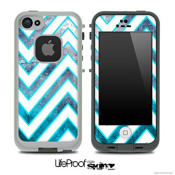 Large Chevron and Oil Painting Skin for the iPhone 5 or 4/4s LifeProof Case