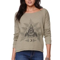 Billabong Not Too Bad Sweatshirt - Womens Hoodie - Green