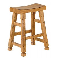 Sunny Designs Sedona Saddle Seat Barstool In Rustic Oak