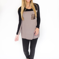 Twinkle In Your Eye- Sequin Pocket Top