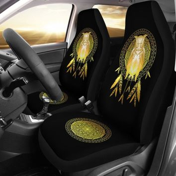 Owl Dream Catcher Gold - Owl Car Seat Covers Universal Fit