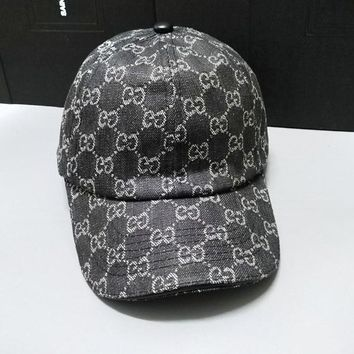 GUCCI Fashionable Women Men Sports Sun Hat Baseball Cap Hat Black