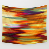 Early Sunset Sky Wall Tapestry by Jenartanddesign